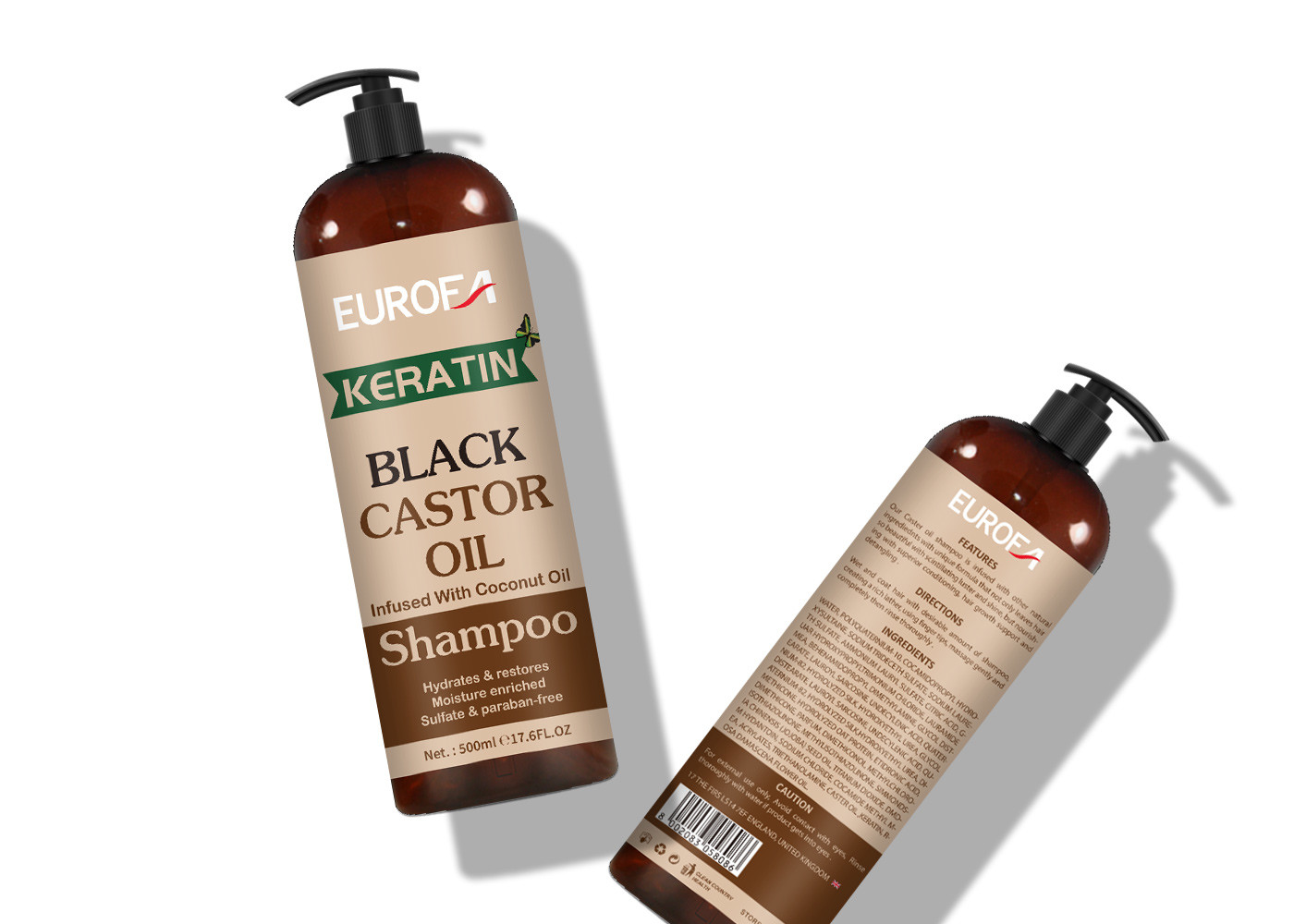 Hair Nourishing Shampoo With Black Castor Oil Use For All Type Hair Damage Wavy Hair