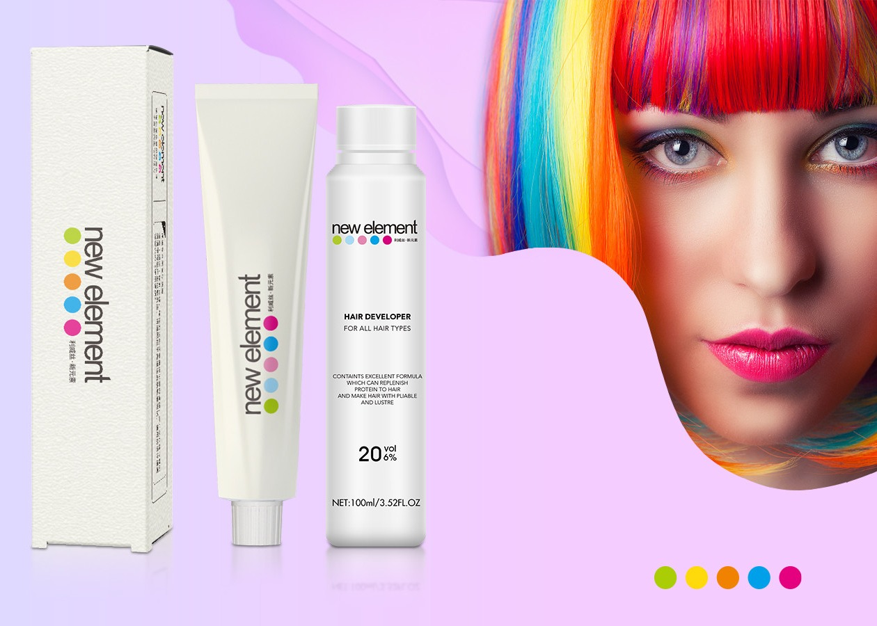 Professional And Permanent Low Ammonium Hair Color Cream For Hair Salon Home Use